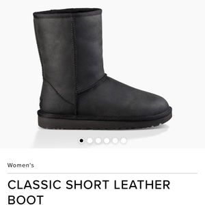 UGG Classic Black Leather Boot